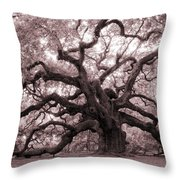 Angel Oak Tree Throw Pillow