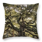 Angel Oak Tree Live Oak  Throw Pillow