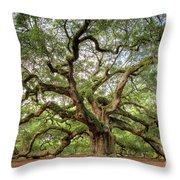 Angel Oak Tree Of Life Throw Pillow