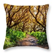 Angel Oaks In Sunshine Throw Pillow
