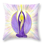 Angel Of Contemplation Throw Pillow