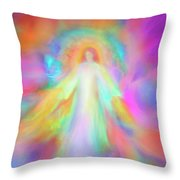 Angel Of Forgiveness And Compassion Throw Pillow