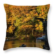 Angel Of Golden Waters Throw Pillow