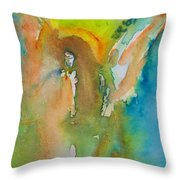 Angel Of Kindness Throw Pillow