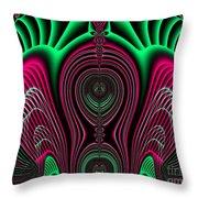 Angel Of Lifes Aura Fractal 114 Throw Pillow