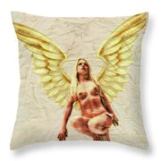 Angel Of Love By Mb Throw Pillow
