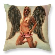 Angel Of Lust By Mb Throw Pillow