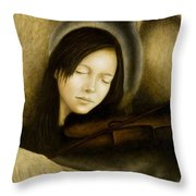 Angel Of Music Throw Pillow