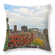 Angel Of Old Montreal Throw Pillow