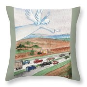 Angel Of Safety Throw Pillow