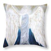 Angel Of Salvation Throw Pillow