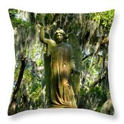 Angel Of Savanna Throw Pillow