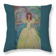 Angel Of Sunshine Throw Pillow