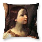 Angel Of The Annunciation Throw Pillow