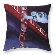 Angel Of The North, Snowman Throw Pillow