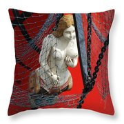 Angel Of The Seas Throw Pillow