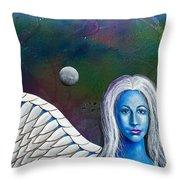 Angel Of The Shepherd Moon Throw Pillow by Lee Pantas