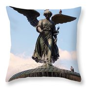 Angel Of The Waters Pigeons Throw Pillow