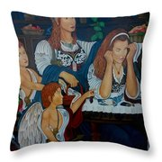 Angel On Clouds Throw Pillow