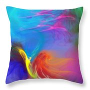 Angel On Lilly Pond Throw Pillow