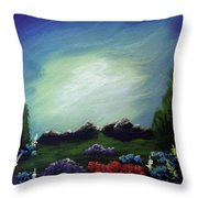 Angel On The Rocks Throw Pillow