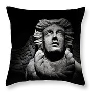 Angel On The Wall Throw Pillow