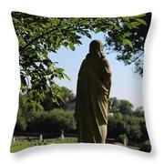 Angel Over Natchez Throw Pillow