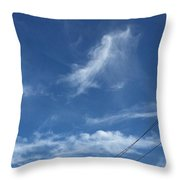 Angel Over Two Notch Road Throw Pillow
