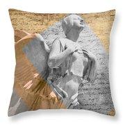 Angel Over  Washington Throw Pillow