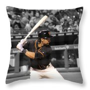 Angel Pagan Throw Pillow