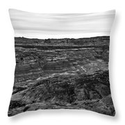 Angel Peak Badlands, Bloomfield, New Mexico, Illuminated By A Cl Throw Pillow