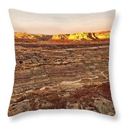 Angel Peak Badlands - New Mexico - Landscape Throw Pillow