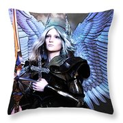 Angel Poster Throw Pillow