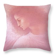 Angel Profile Throw Pillow