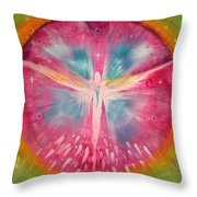 Angel Shining On Your Path Throw Pillow