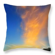 Angel Sparks Throw Pillow