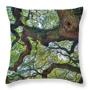 Angel Tree Abstract Throw Pillow