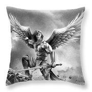 Angel Warrior Throw Pillow
