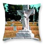 Angel Watching Over Throw Pillow