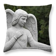 Angel Watching Over Me Throw Pillow