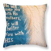 Angel Wing Psalms 91 4 Throw Pillow