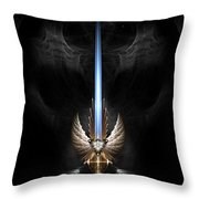 Angel Wing Sword Of Arkledious Dgs Throw Pillow