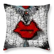 Angel Wings Brings Love And Peace Throw Pillow
