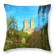 Perfect Morning In The Park Throw Pillow