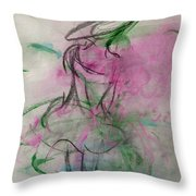 Angel With Pink Wings Throw Pillow