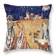Angel With Shepherds Throw Pillow