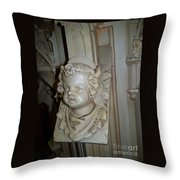 Angel With The Chipped Nose Throw Pillow