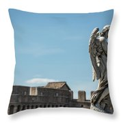 Angel With The Garment And Dice Throw Pillow