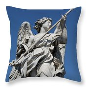 Angel With The Lance  Throw Pillow