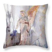 Angel Writing Doodles In Spirit Throw Pillow